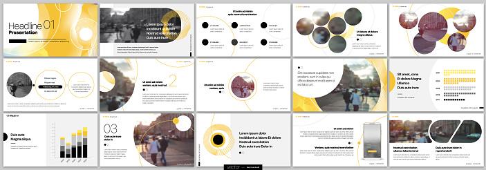 Presentation Slide Design Templates on a white background. Vector infographics.