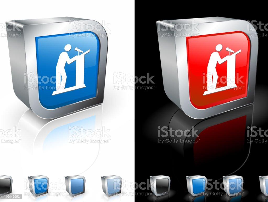 presentation speaker square royalty free vector art royalty-free stock vector art