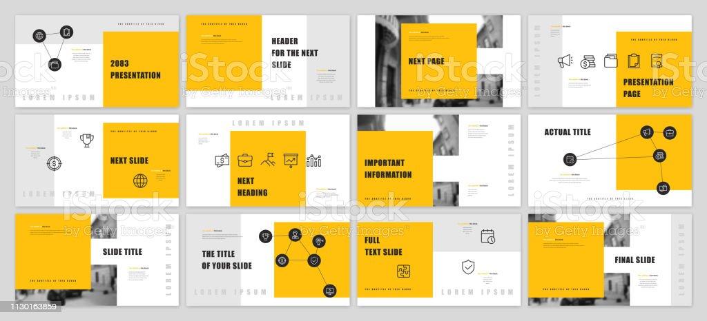 Presentation template design - illustrazione arte vettoriale