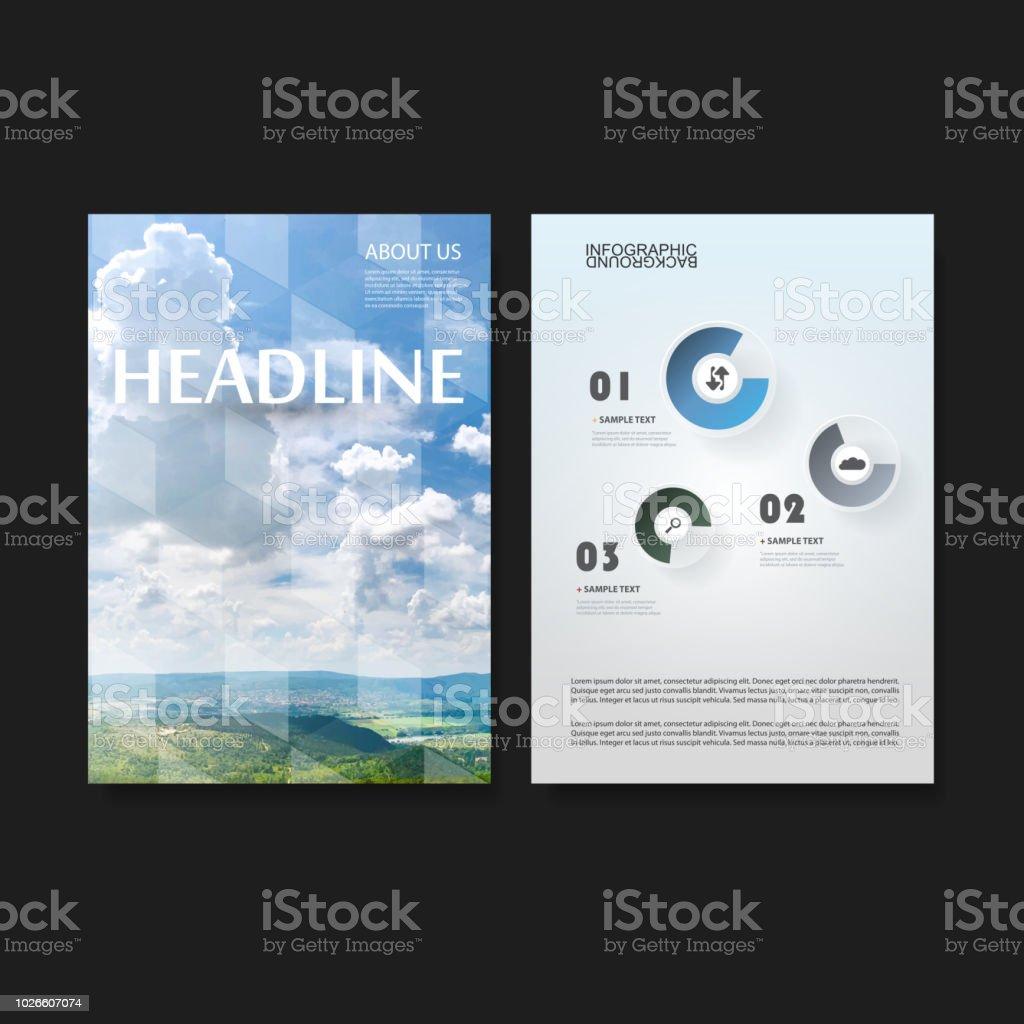 Ilustración de Plantilla De Presentación Flyer O Diseño De La ...