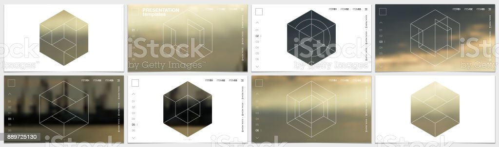Presentation template in HD format, cover design with geometric shapes and masks in modern minimalistic style for presentation, flyer, leaflet, corporate report, marketing, advertising, annual report - illustrazione arte vettoriale