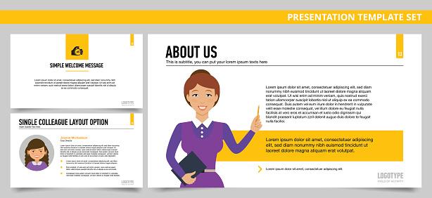 Presentation template set 19