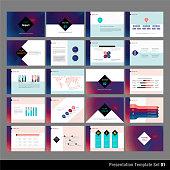 A set of 20 modern presentation template.