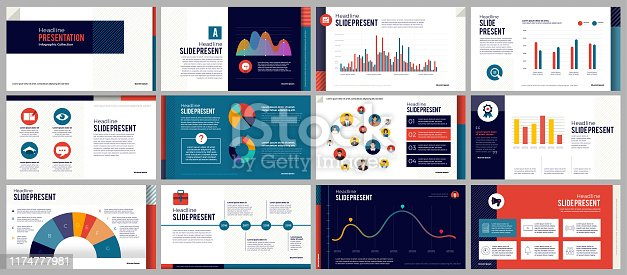 Presentation templates elements on a gradient pink & Purple background. Decorate with black & white icons graphic. Vector infographics. Use in Presentation, marketing, advertising, annual report.
