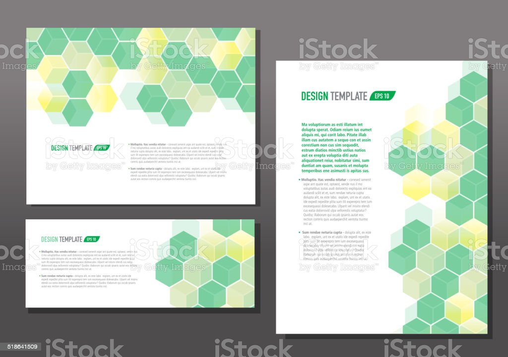 Presentation template set with sample text green hexagon stock presentation template set with sample text green hexagon royalty free presentation template set with sample toneelgroepblik Image collections