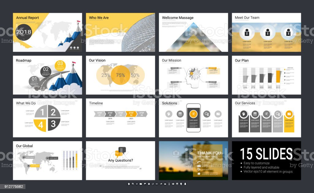presentation template with infographic elements designs cover all