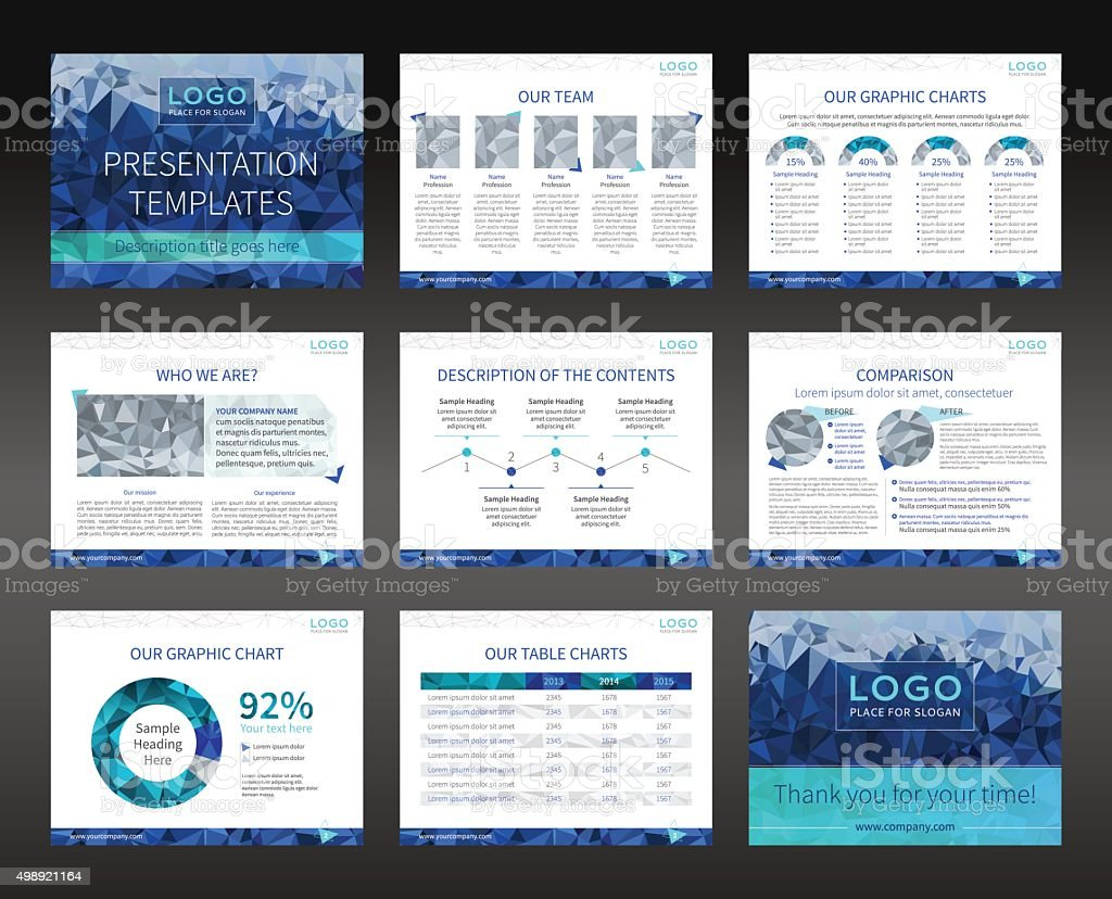Presentation templates and business brochures layout design vector art illustration