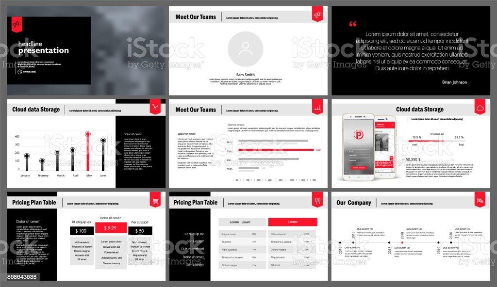 Presentation templates elements on a white background. - illustrazione arte vettoriale