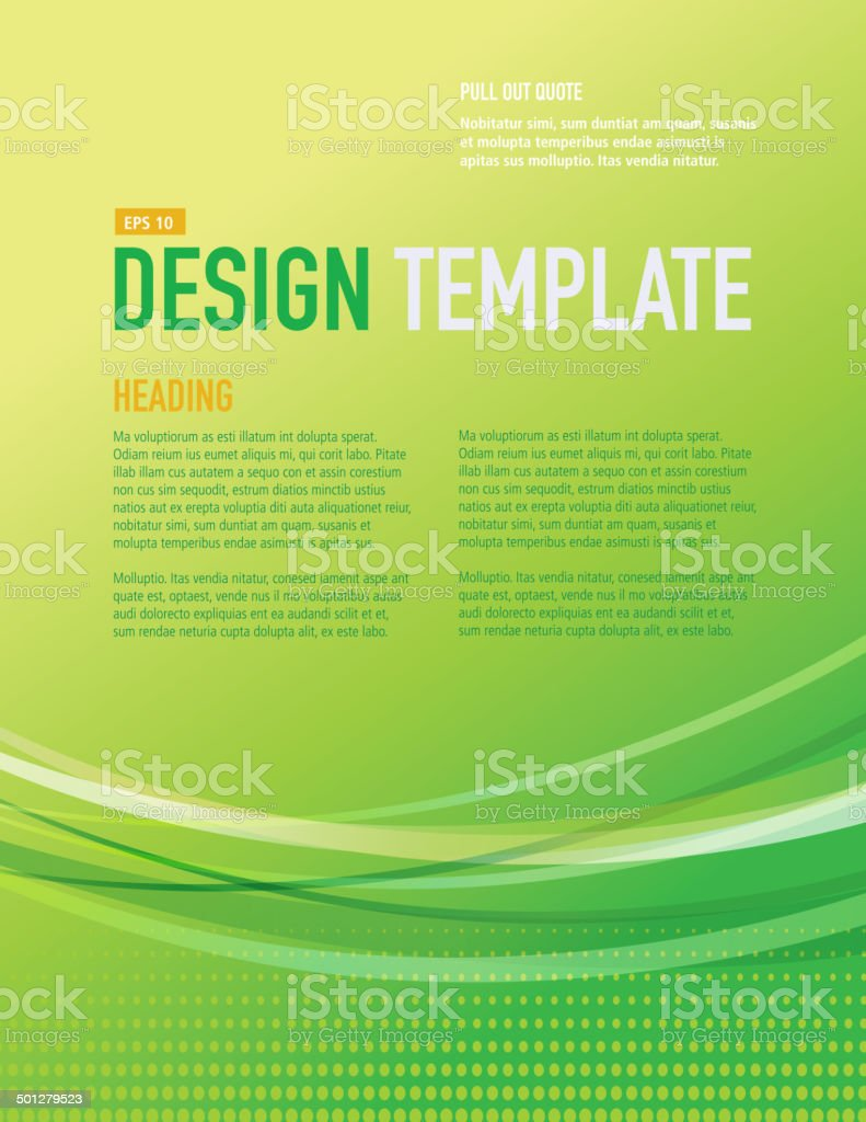 presentation vertical bright green design layout template sample, Presentation templates