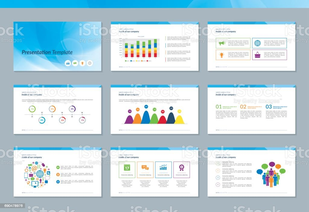 Presentations templates. vector art illustration