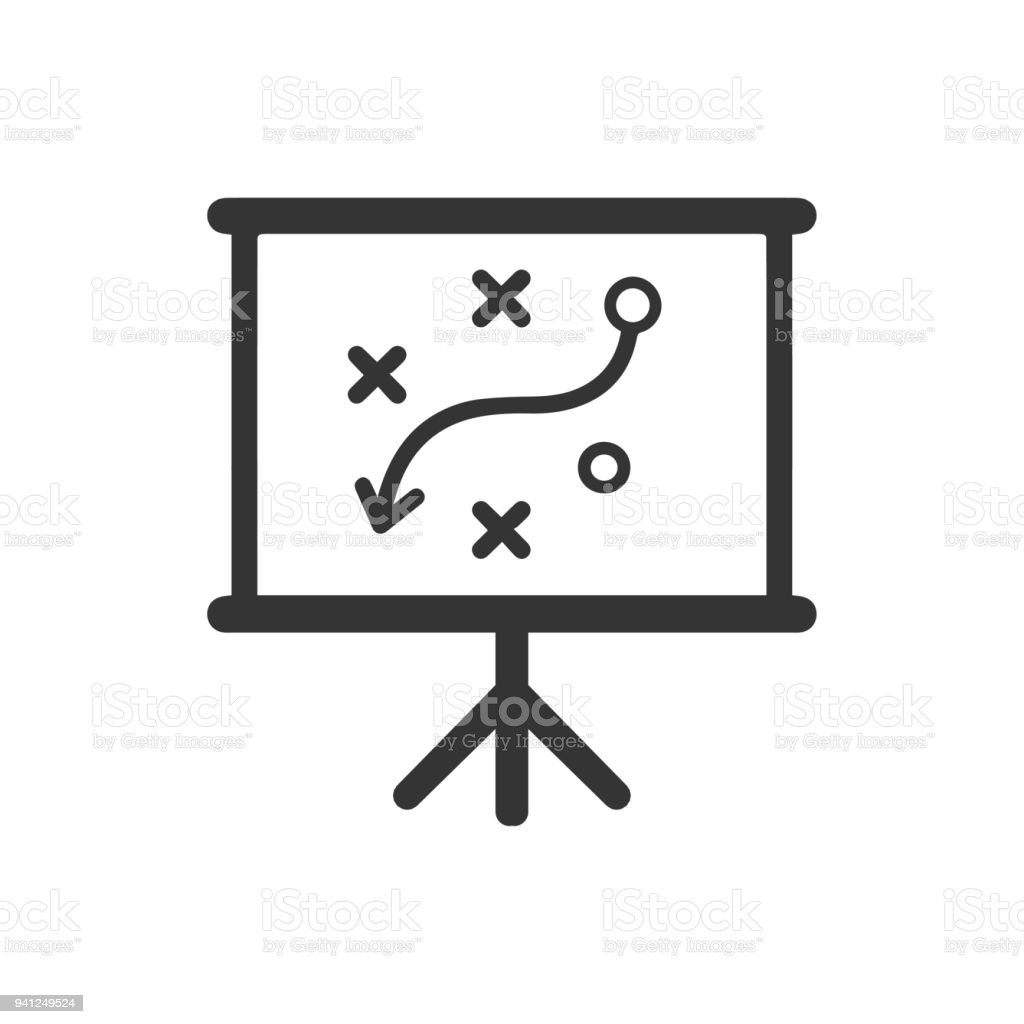 presenting business plan icon stock vector art more images of