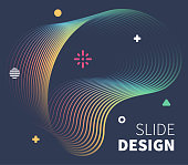 Presenting information with dynamic fluid background lines. Perfect vector illustration for business cards, invitations, gift cards, flyers and online banners.