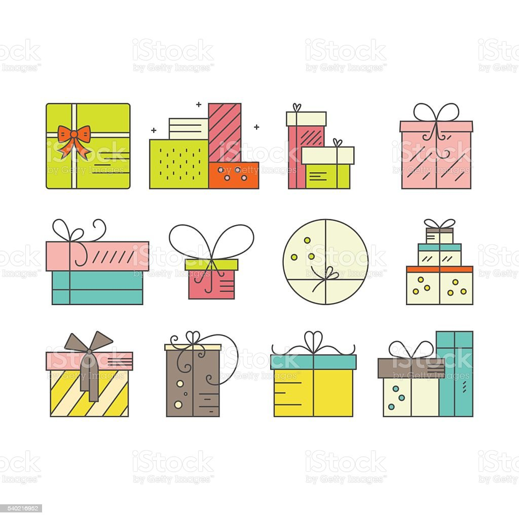 Presents Clipart vector art illustration
