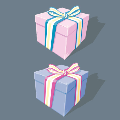 An illustration of presents. All grouped and layered for easy editing.