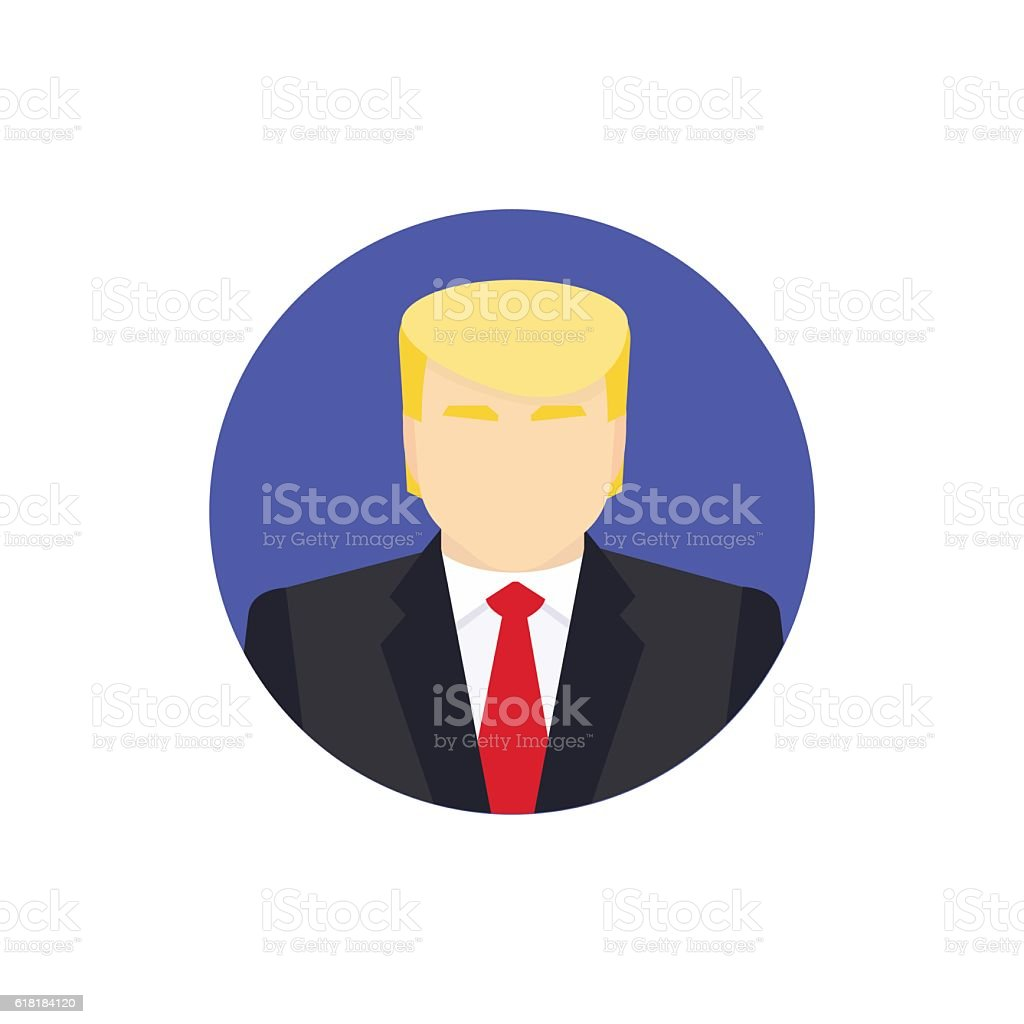 Presidential candidate Icon. Usa election 2016 concept. Flat vector illustration.