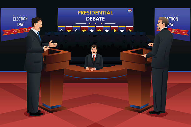 президентские дебаты - presidential debate stock illustrations