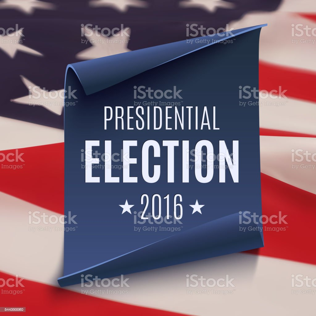 Presidential Election 2016 background vector art illustration