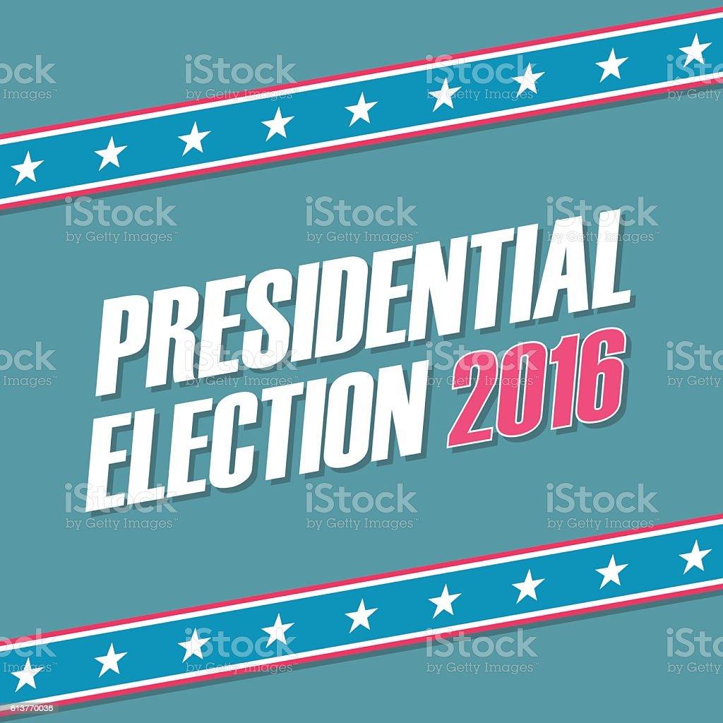 USA Presidential Election 2016 banner. vector art illustration