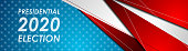 USA Presidential Election 2020 abstract background. Vector american banner design