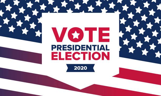 amerika birleşik devletleri'nde başkanlık seçimleri 2020. oy günü, 3 kasım. abd seçimleri. vatansever amerikan unsuru. poster, kart, afiş ve arka plan. vektör çizimi - election stock illustrations