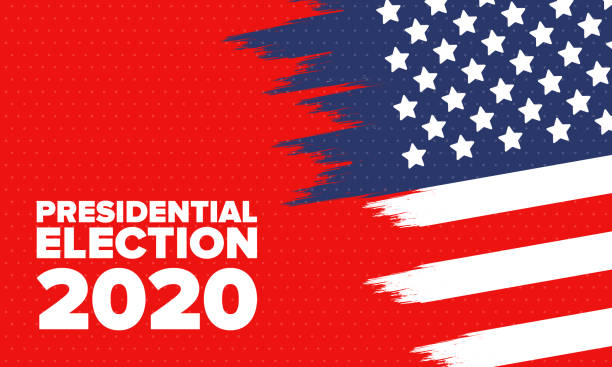 Presidential Election 2020 in United States. Vote day, November 3. US Election. Patriotic american element. Poster, card, banner and background. Vector illustration Presidential Election 2020 in United States. Vote day, November 3. US Election. Patriotic american element. Poster, card, banner and background. Vector illustration election stock illustrations