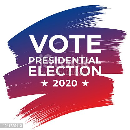 istock Presidential Election 2020 in United States. Vote day, November 3. US Election. Patriotic American element. Poster, card, banner and background. Vector illustration. 1241725413