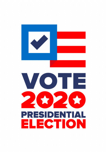 Presidential Election 2020 in United States. Vote day, November 3. US Election. Patriotic american element. Poster, card, banner and background. Vector illustration vector art illustration