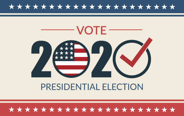Presidential election 2020. United States election vote banner. Presidential election 2020. United States election vote banner. Vector Illustration. election stock illustrations