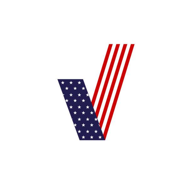 ilustraciones, imágenes clip art, dibujos animados e iconos de stock de fondo de bandera de elecciones presidenciales. elecciones presidenciales 2016. mano poniendo papel de votación en la urna con la bandera americana en el fondo. plano de diseño, ilustración del vector. - election