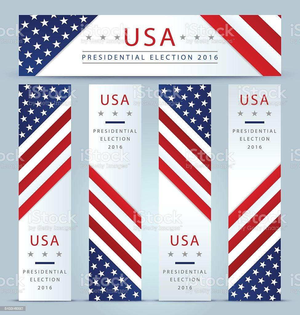 USA Presidential election banner background vector art illustration