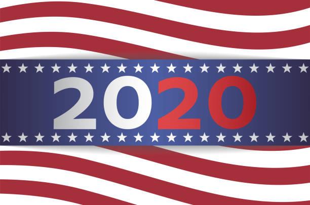2020 abd cumhurbaşkanlığı seçim afiş - election stock illustrations