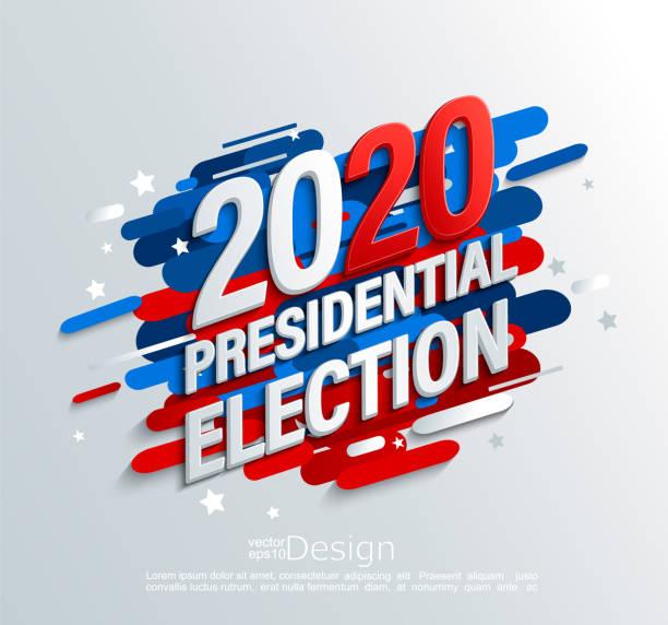 2020 abd cumhurbaşkanlığı seçim afiş, vektör. - başkanlık seçimleri stock illustrations
