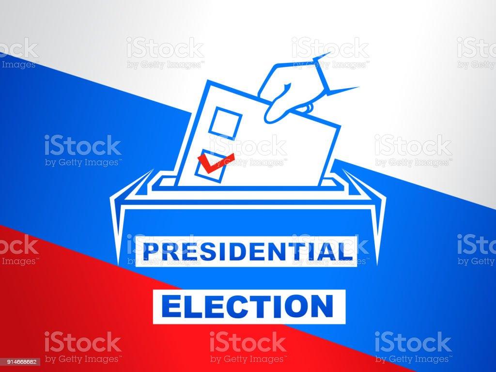 Presidential election in Russia vector illustration vector art illustration