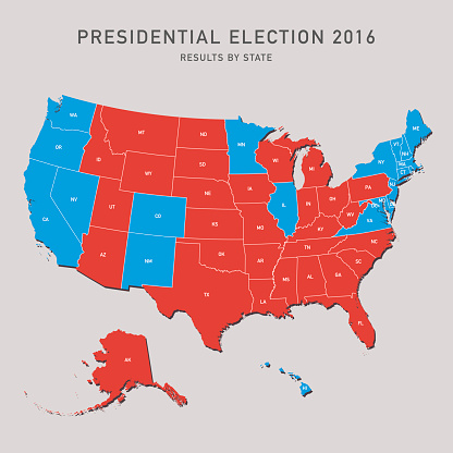 Presidential Election Map 2016 USA