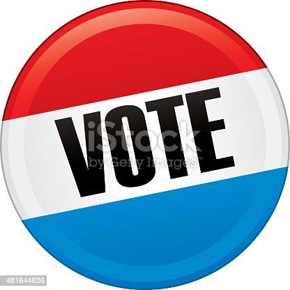 Presidential Election Voters Pin 2016