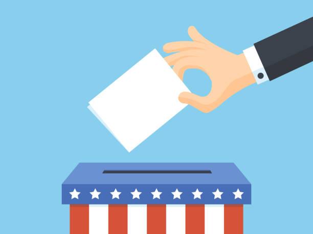 stockillustraties, clipart, cartoons en iconen met amerikaanse presidentsverkiezingen stemmen - vote