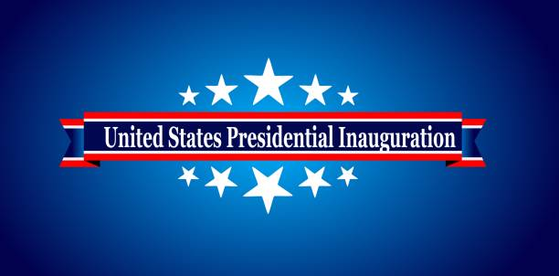 Presidential Inauguration USA Presidential Inauguration Day on January 20th 2021 vector banner. inauguration stock illustrations