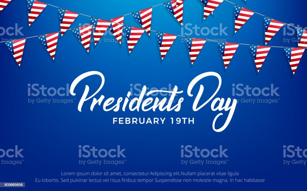 Presidents Day. Banner for USA Presidents Day Holiday vector art illustration