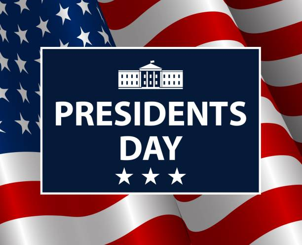 presidents day in usa background. united states of america celebration. vector illustration. - presidents day stock illustrations, clip art, cartoons, & icons