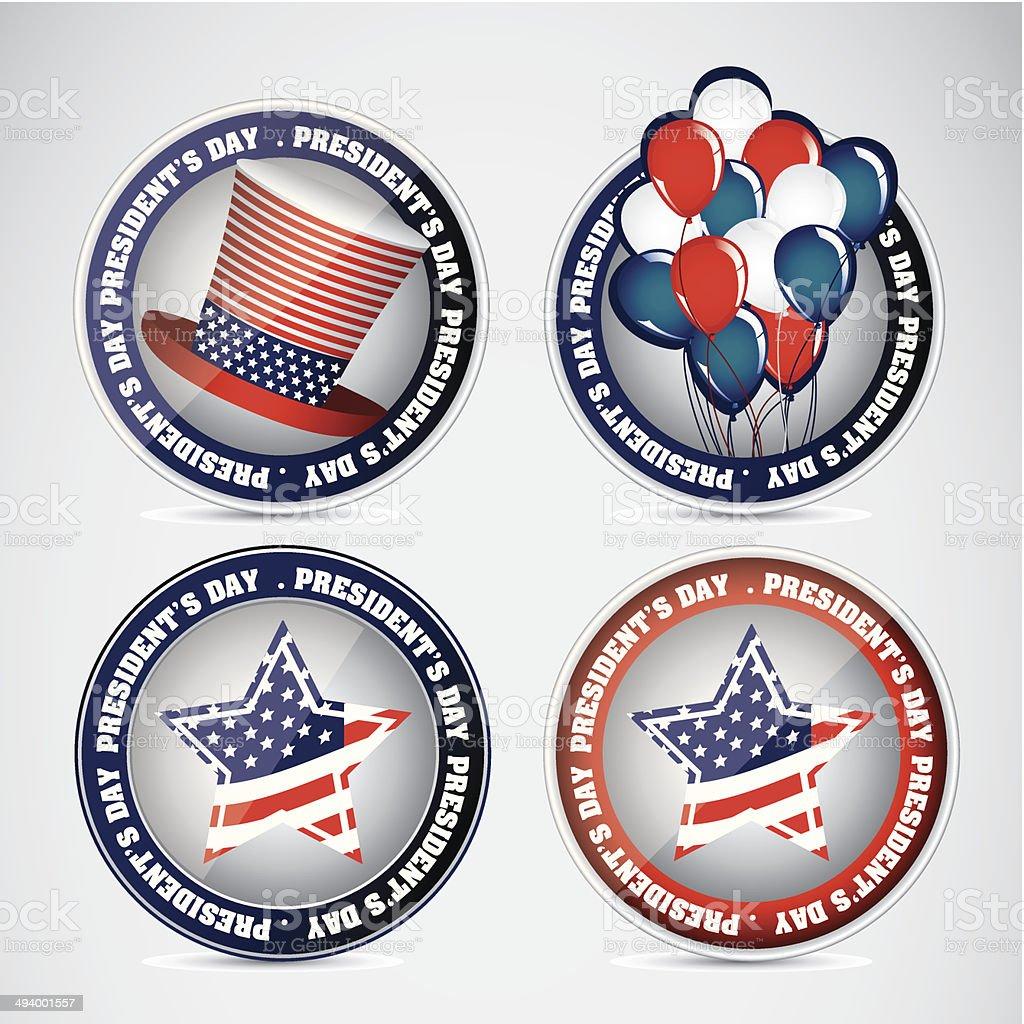 President's Day in USA vector art illustration