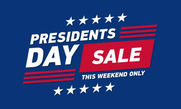 總統日銷售橫幅。向量範本。 - 政治 幅插畫檔、美工圖案、卡通及圖標