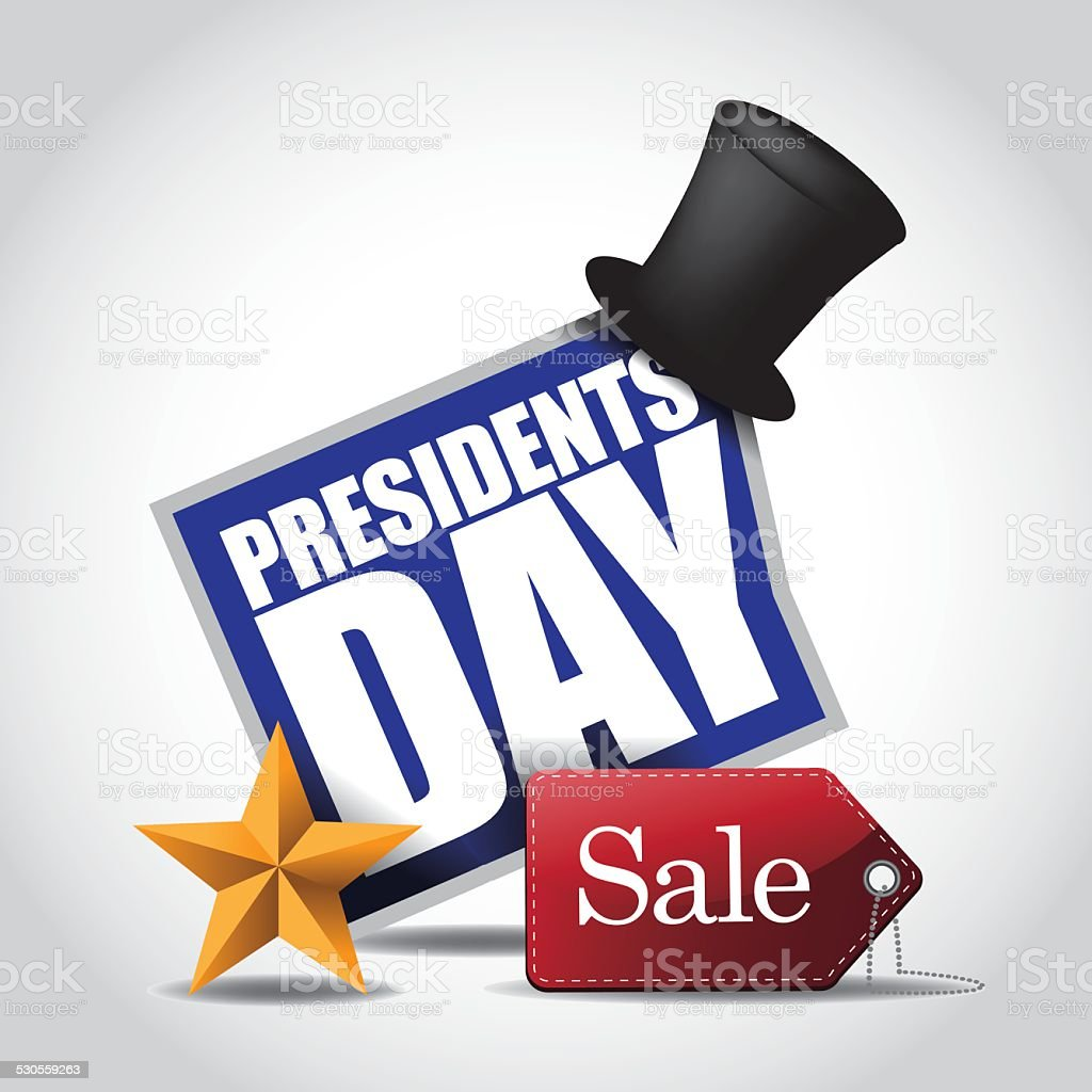 Presidents Day Sale Icon vector art illustration