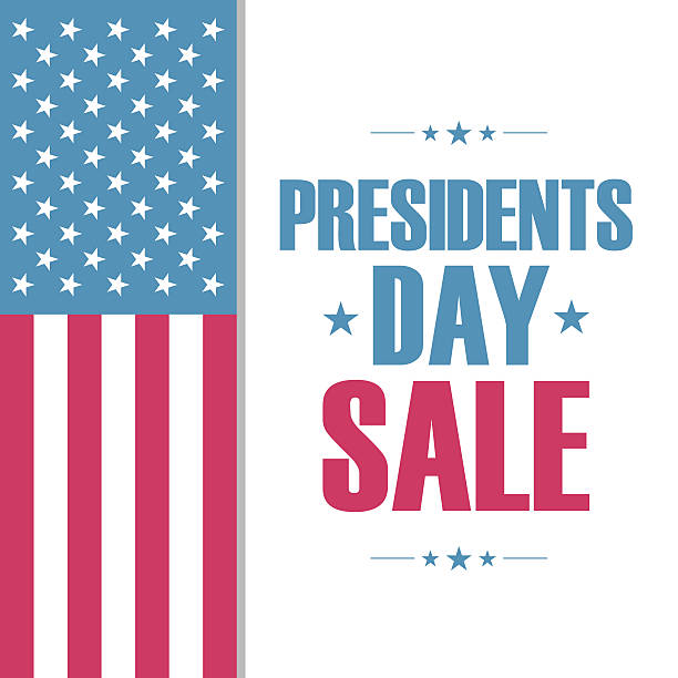 presidents day sale special offer banner for business. - presidents day stock illustrations, clip art, cartoons, & icons