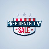 Presidents' Day Sale concept illustration. EPS 10 file. Transparency effects used on highlight elements.