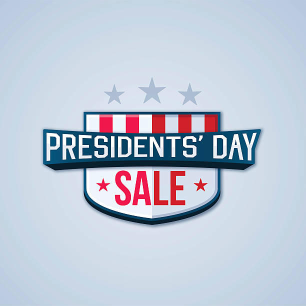 presidents' day sale - presidents day stock illustrations, clip art, cartoons, & icons