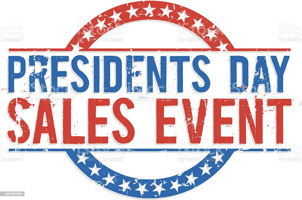 Presidents day sales event sign vector art illustration