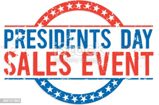 Presidents Day Sales Event Sign Stock Vector Art More