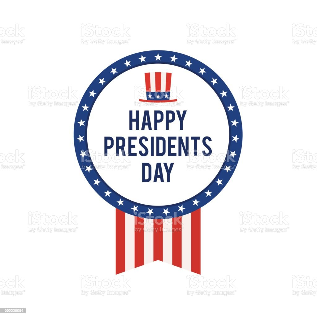 Presidents day USA card