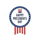 Presidents day USA card