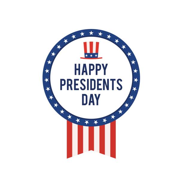presidents day usa card - presidents day stock illustrations, clip art, cartoons, & icons